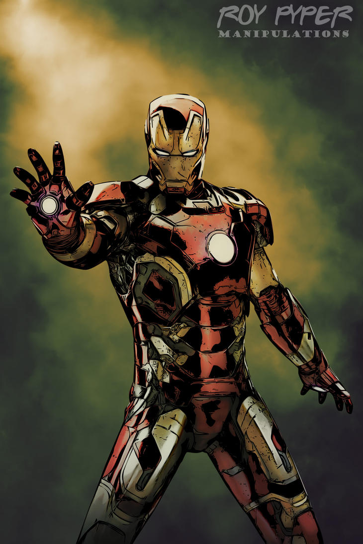 avengers iron man comic book art editnerdboy69 on