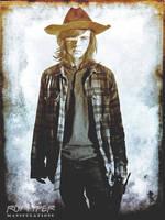 TWD: Carl Grimes: HDR Grunge Edit by nerdboy69