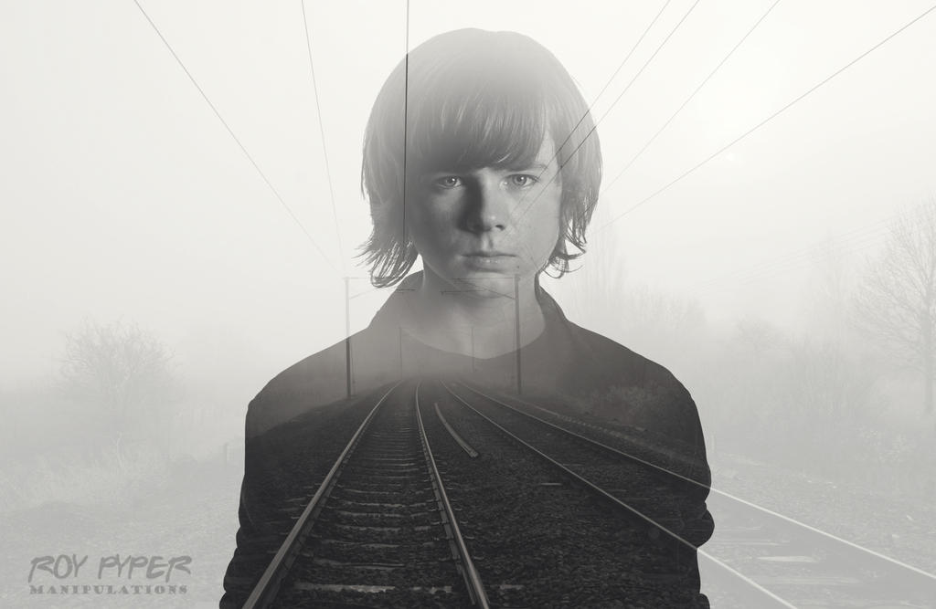 TWD: Carl Grimes: Foggy Tracks: Double Exposure