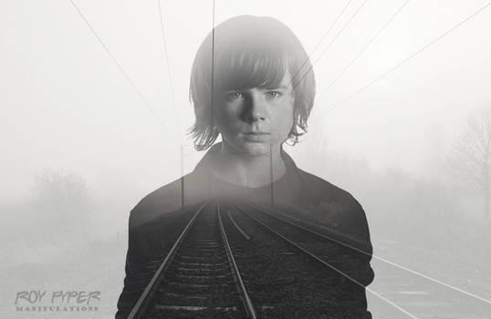 TWD: Carl Grimes: Foggy Tracks: Double Exposure