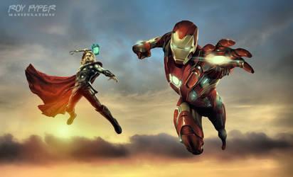 Iron Man and Thor: HDR Edit by nerdboy69