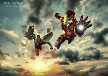 Iron Man and The Vision: HDR Edit by nerdboy69