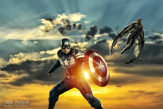 Captain America and The Falcon: HDR Edit by nerdboy69