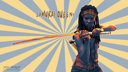 TWD: Michonne: Samurai Queen: Vectorize Desktop by nerdboy69