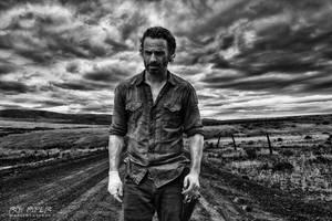 TWD Desolate Road: HDR Monochrome Edit by nerdboy69