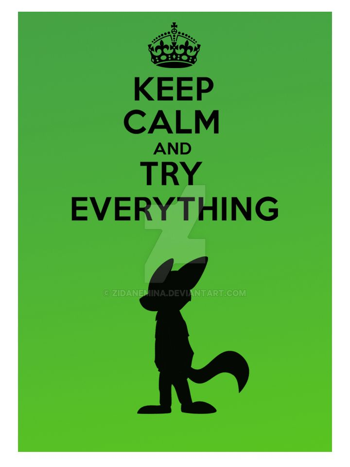 Keep calm and try everything by ZidaneMina