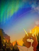 Imperatrix Sempiterna - Starry and boreal sunset by ZidaneMina