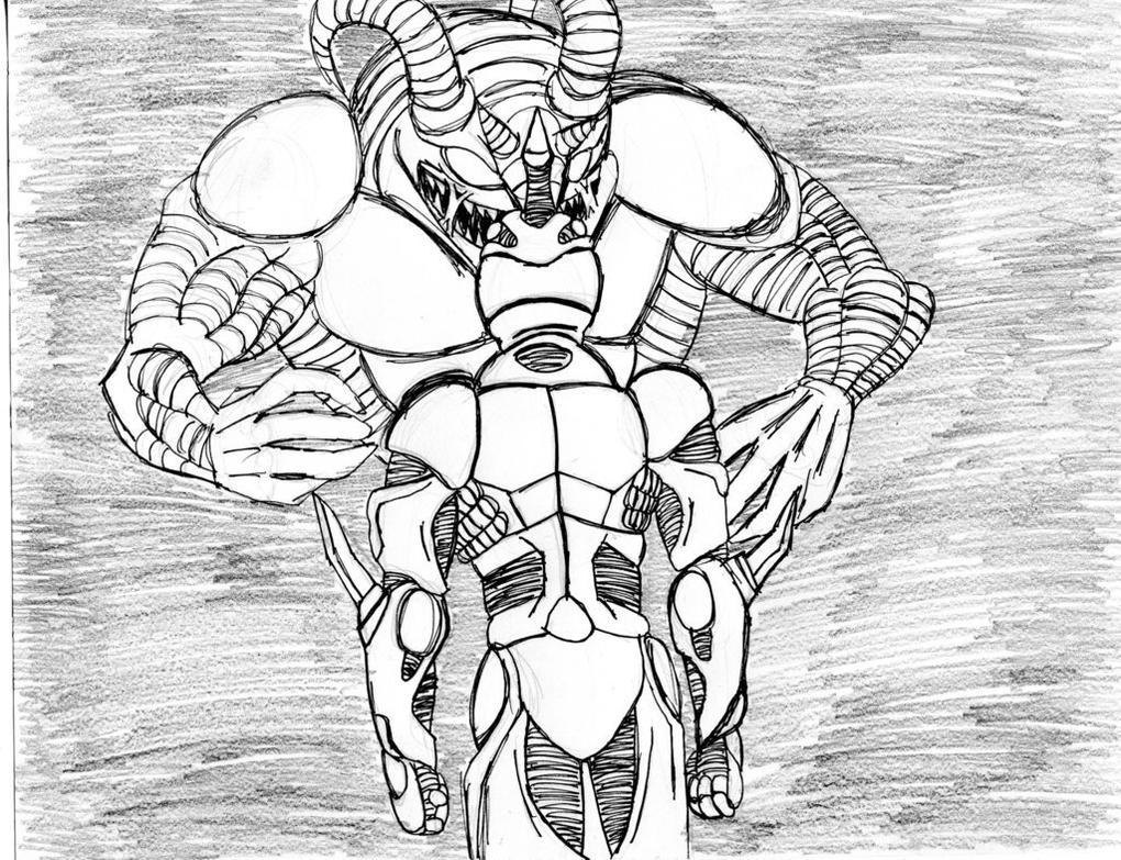 Guyver vs Gregole by christheZfighter
