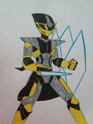 Gold Armored Assassin  by christheZfighter