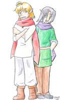 Mohei and Freg by whoatheresara