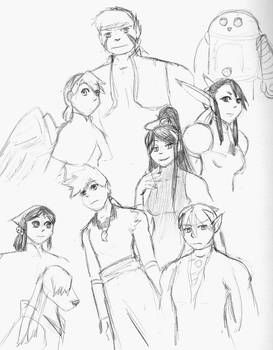 Breath of Fire IV doodles