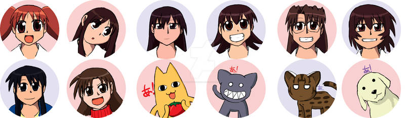 Azumanga Daioh buttons