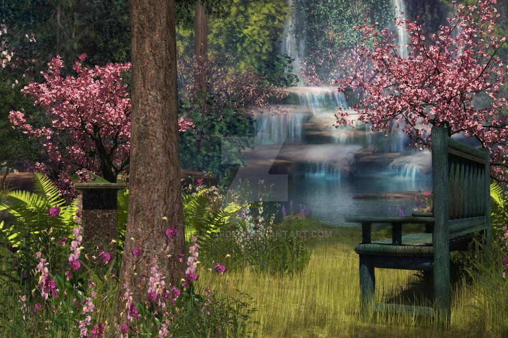 Garden Background by Elle-Arden