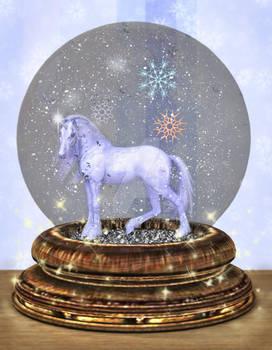 Magic Snow Globe Unicorn