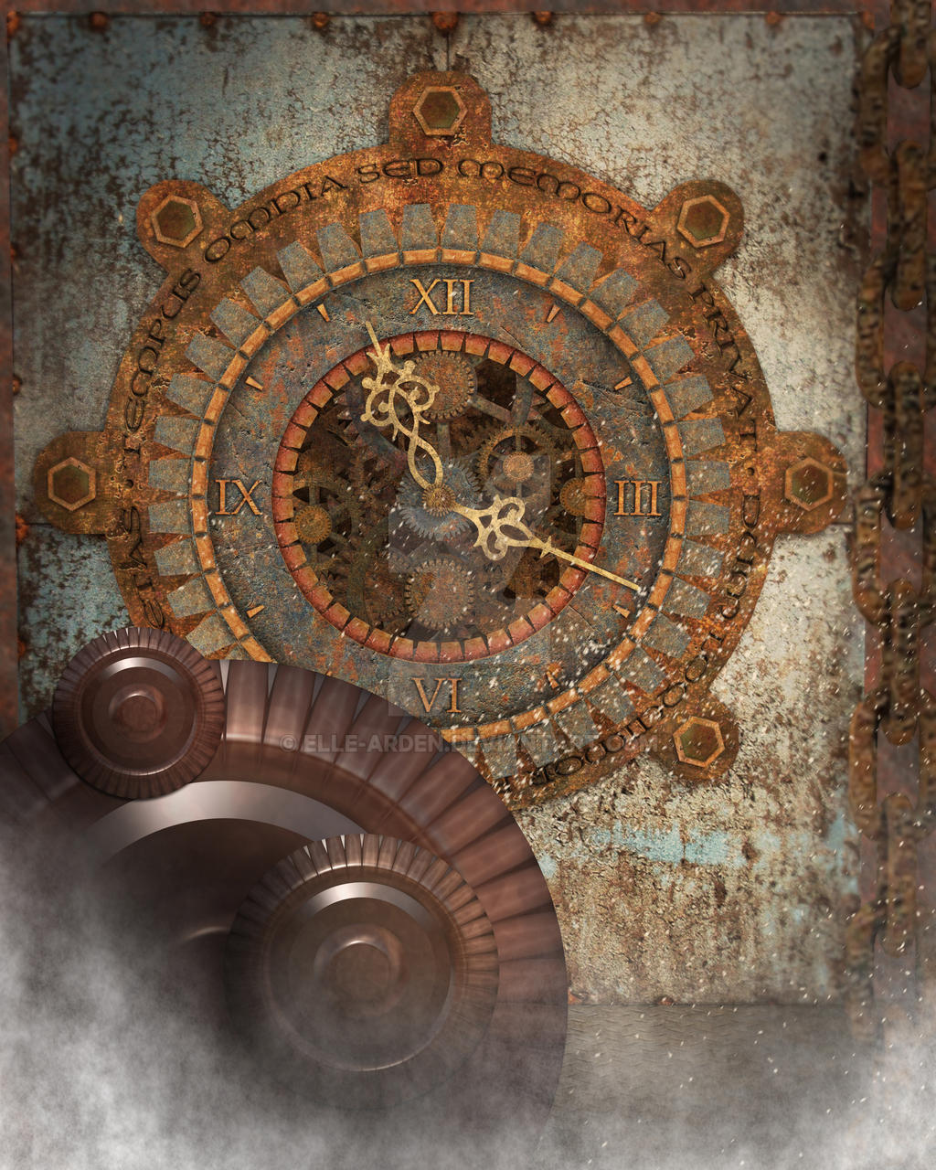 steampunk clock background 2 by elle arden on deviantart. Black Bedroom Furniture Sets. Home Design Ideas