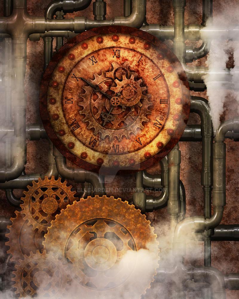Steampunk Background 3 by Elle-Arden