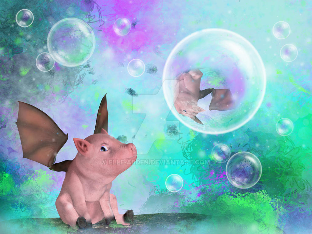 Pig in a Bubble by Elle-Arden