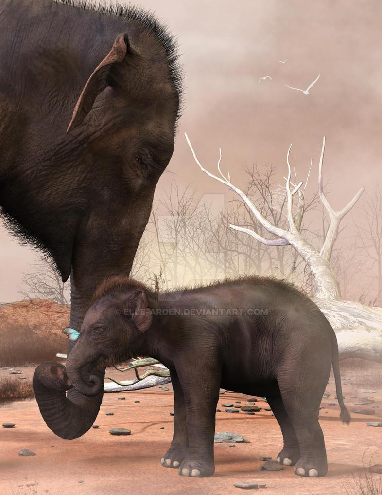 Elephants by Elle-Arden
