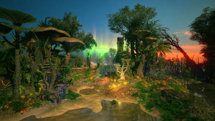 Alien Swamp Landscape