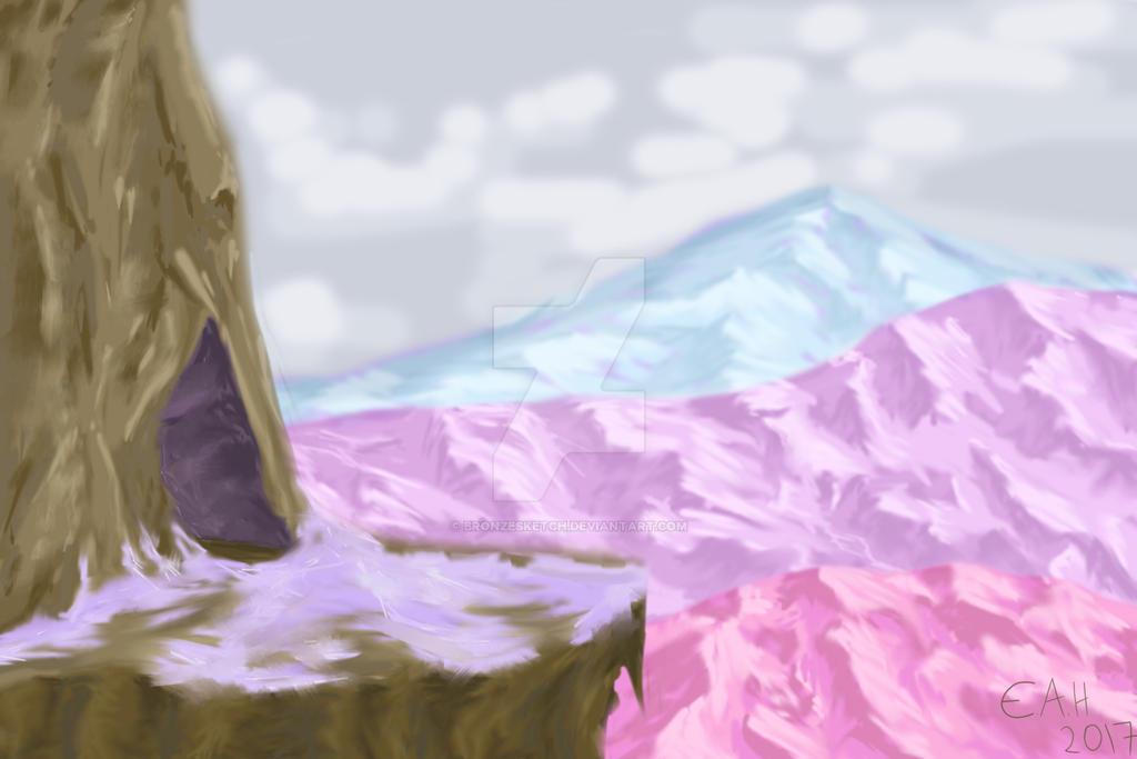 Snowy Mountain by bronzesketch