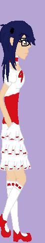 Kiko in red and white by ChibiOtakuFreak