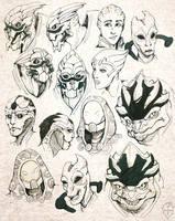 [F.A] Mass Effect Headshot by Mirra-Mortas