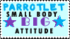 Parrotlet Stamp by 321newbie123