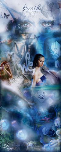 'Underwater' Selena by bxromance