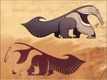 anteater stencil