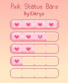 Pink Status/Progress Bars! (Animated!) by Elerya