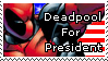 Deadpool for president stamp by MysticalTemptress