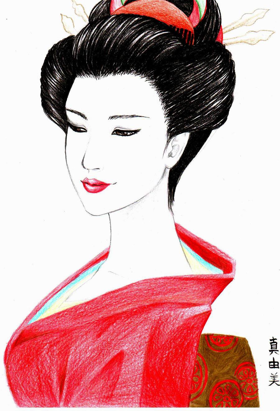 Galeria de desenhos Mayumi (Chibi May) - Página 10 Gueixa_by_ChibiMay