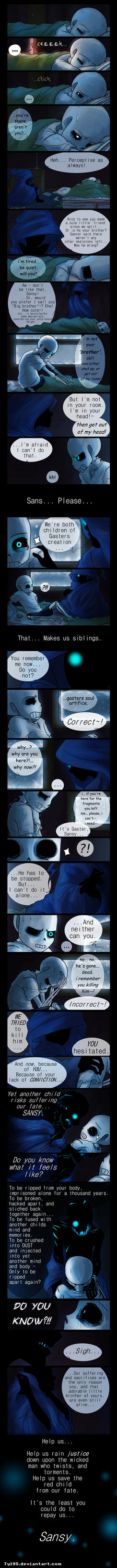 Speaking with Shadows (Undertale Comic) by Tyl95