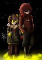 Flowerfell Sans and Frisk (Undertale gift art) by Tyl95