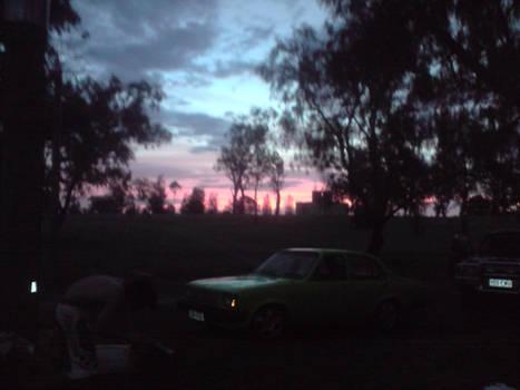 wonderful camping sunset