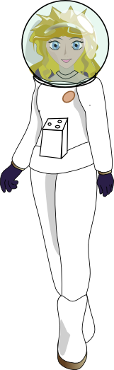 Girl in Spacesuit by Digitante