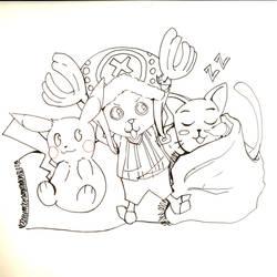 WIP Anime mascots by LoluKomiya