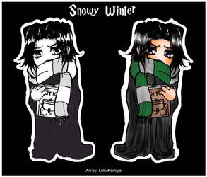 Snowy Winter Chibi Snape by LoluKomiya