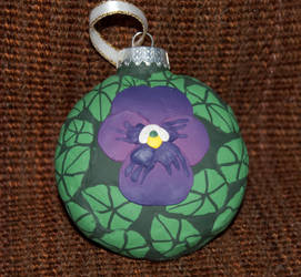 Pansy Ornament Side 1