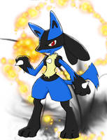 Lucario by jack0lat3rn