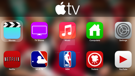 ATV Home Screen (Concept iOS 7)