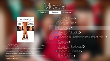 ATV Movie Selection Screen (Concept iOS 7)