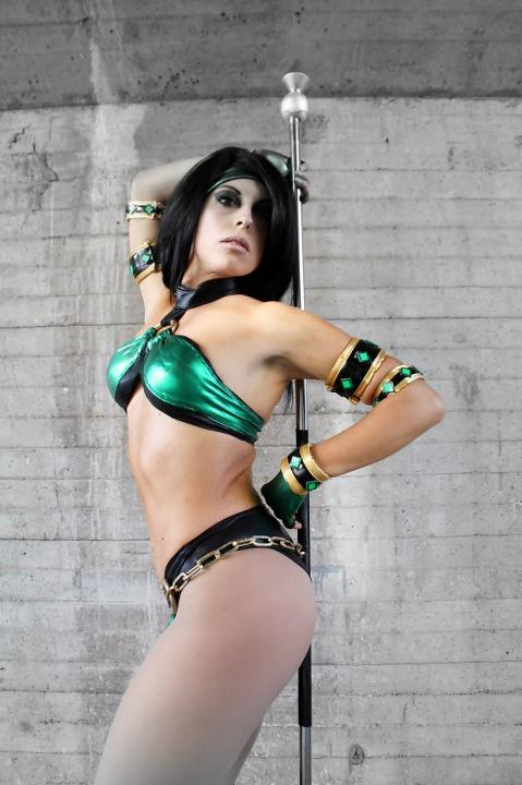 My cosplay Jade Mortal Kombat Deception by Michela1987