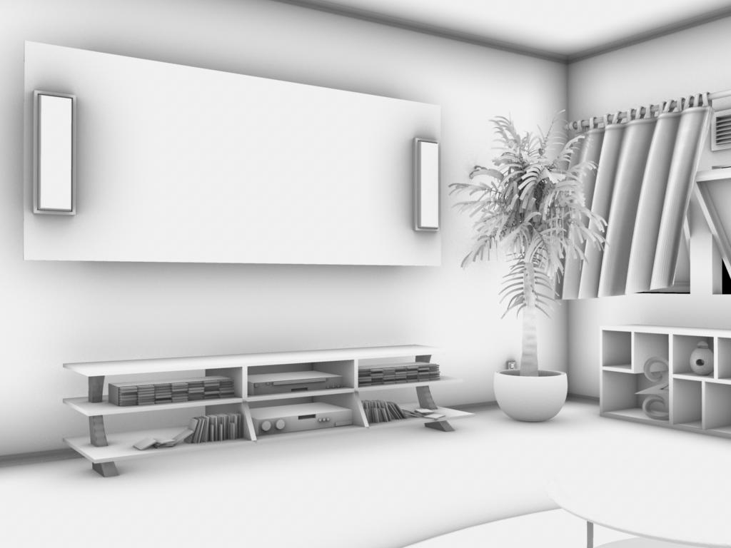 Maya Modeling Interior 3 By Cable Radiation On Deviantart