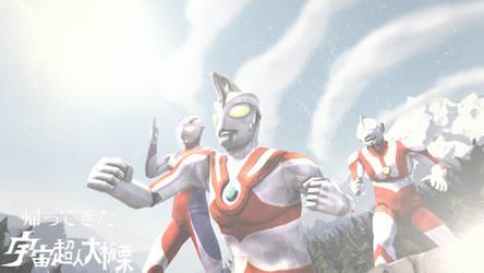 [SFM] Ultraman Under Mount Fuji by leetraman