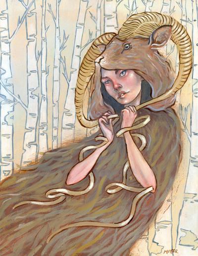 Goat Cloak by lauren-moyer