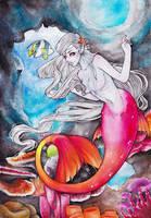 Coral mermaid by JulietGarciaArt
