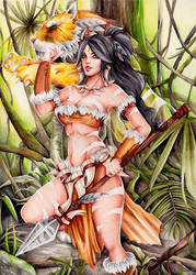 Nidalee by JulietGarciaArt