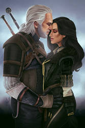 Geralt and Yennefer by JulietGarciaArt