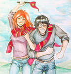 Harry and Ginny Quidditch